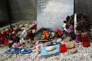 Tokens left at Kafka's grave.